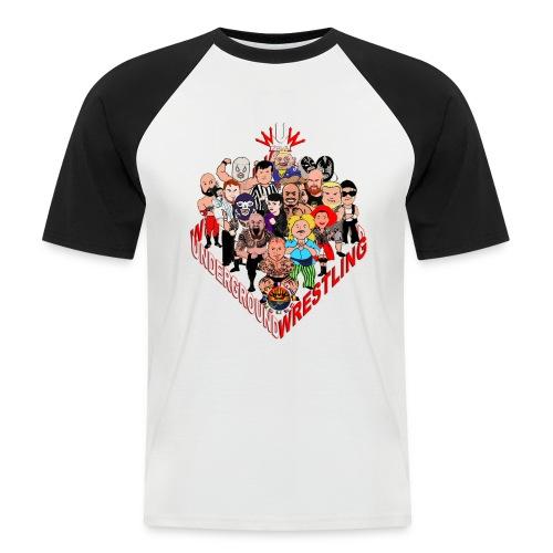 comics-wrestler - Männer Baseball-T-Shirt