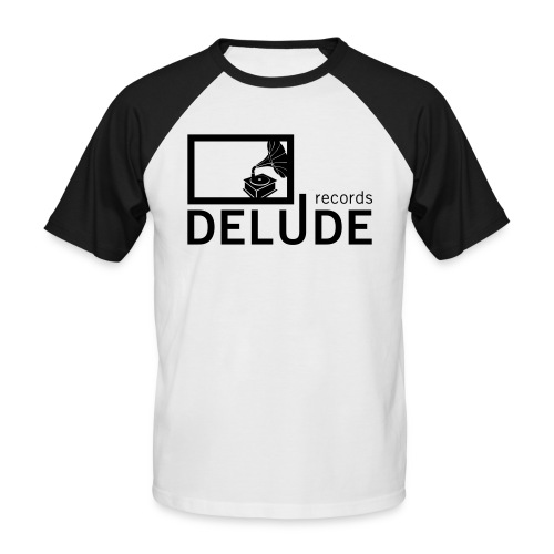 Delude Records Label Logo - Männer Baseball-T-Shirt