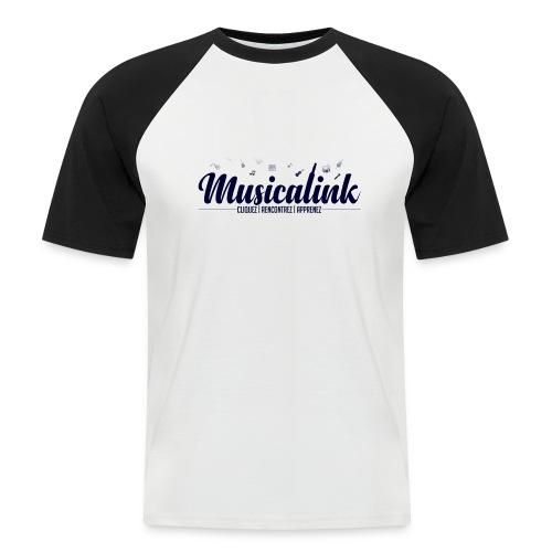 Musicalink blue - T-shirt baseball manches courtes Homme