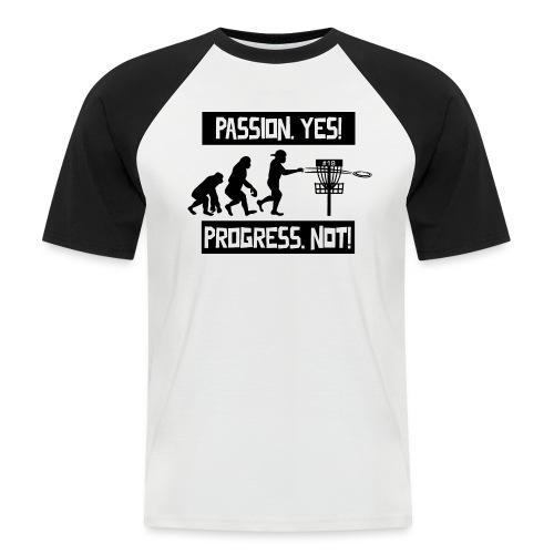 Disc golf - Passion, progress - Black - Miesten lyhythihainen baseballpaita