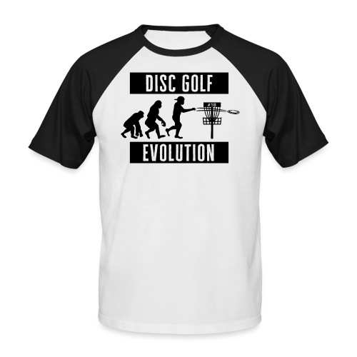 Disc golf - Evolution - Black - Miesten lyhythihainen baseballpaita