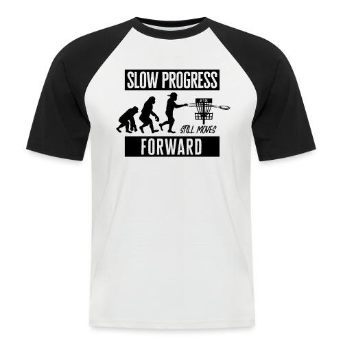 Disc golf - Slow progress - Black - Miesten lyhythihainen baseballpaita