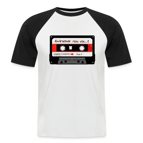 Old school audio cassette - Men's Baseball T-Shirt