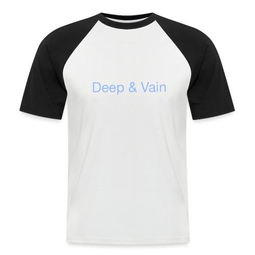 Deep&Vain Text Logo - Mannen baseballshirt korte mouw