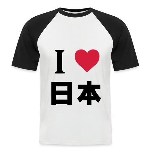 I LOVE JAPAN - Camiseta béisbol manga corta hombre