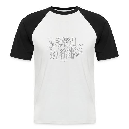 MENFOUMENTAPE blanc et noir by Alice Kara - T-shirt baseball manches courtes Homme