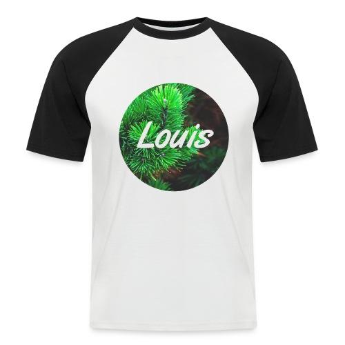 Louis round-logo - Männer Baseball-T-Shirt