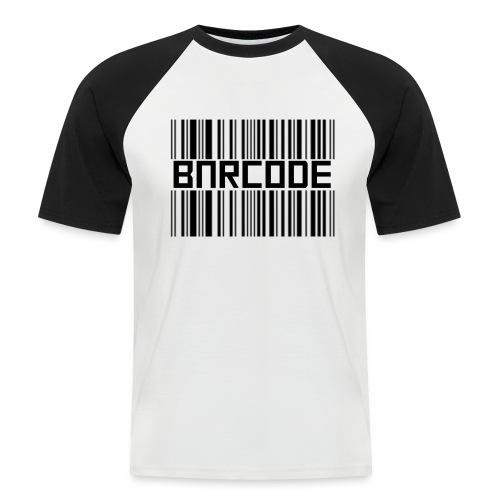 BARCODE WHITE - Men's Baseball T-Shirt
