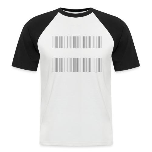 BARCODE BLACK - Men's Baseball T-Shirt