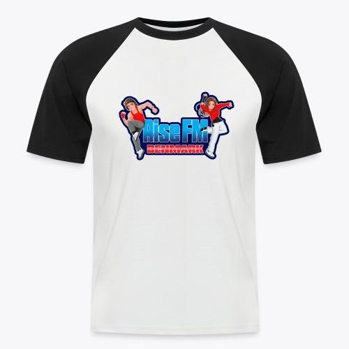 Rise FM Denmark Full Logo - Kortærmet herre-baseballshirt