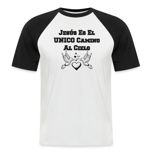 Jesus Unico camino al cielo - Camiseta béisbol manga corta hombre