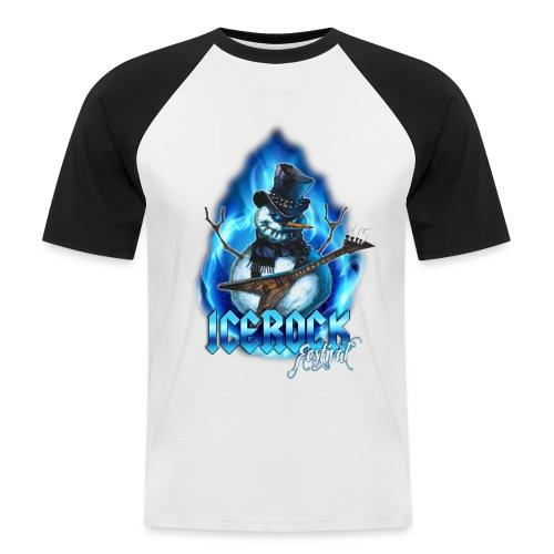 Snowman Evil - Männer Baseball-T-Shirt