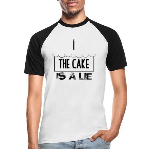 Der Kuchen ist eine Lüge - Männer Baseball-T-Shirt