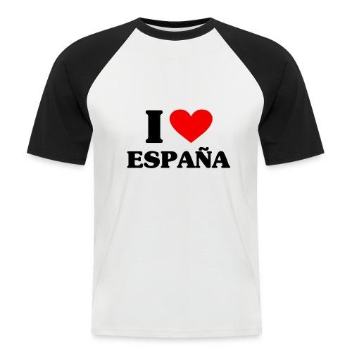 I love Espana - Männer Baseball-T-Shirt
