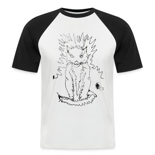 der graue Katzer - Männer Baseball-T-Shirt
