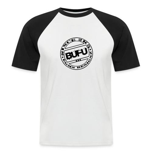 stempelgeradeblack - Männer Baseball-T-Shirt