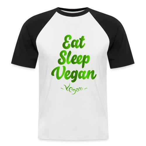 Eat Sleep Vegan - Miesten lyhythihainen baseballpaita