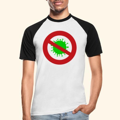 Virusstop gross - Männer Baseball-T-Shirt