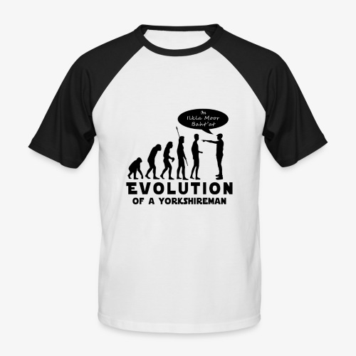 Evolution of a Yorkshireman - Men's Baseball T-Shirt