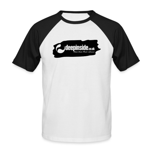deepinside world reference marker logo black - Men's Baseball T-Shirt