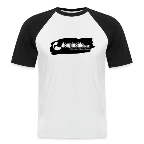 deepinside world reference marker logo black - Men's Baseball T-Shirt