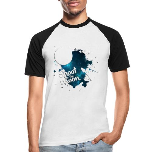 Shoot for the Moon Galaxy Edition - Men's Baseball T-Shirt
