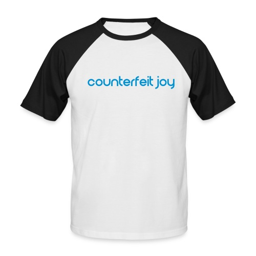 Counterfeit Joy text logo - Men's Baseball T-Shirt