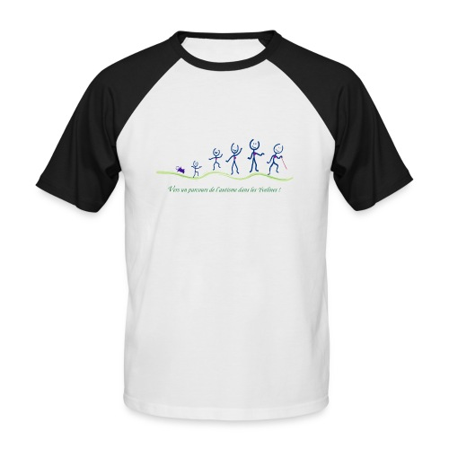 parcoursdelautismeaidytrace - T-shirt baseball manches courtes Homme