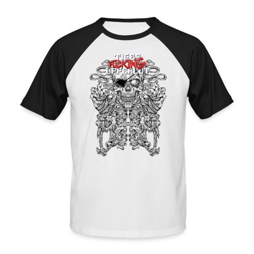 TFU Black Line Imagery Print Friendly EDIT png - Men's Baseball T-Shirt