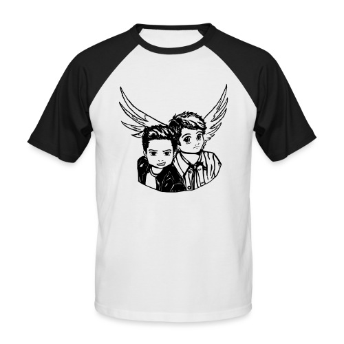 Destiel (Silhuet) - Kortærmet herre-baseballshirt