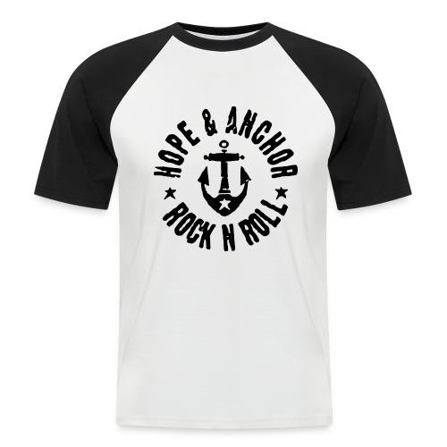Hope & Anchor - Rock´n´Roll - Männer Baseball-T-Shirt