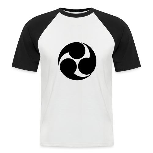 Kobayakawa Mon Japanese clan black - Men's Baseball T-Shirt