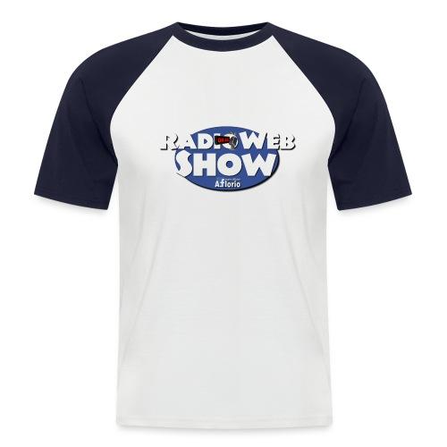 Logo RadioWebShow - Maglia da baseball a manica corta da uomo