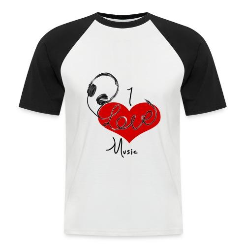 I Love Music - Men's Baseball T-Shirt