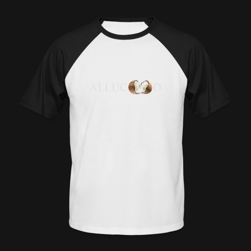 allucoco negro - Camiseta béisbol manga corta hombre