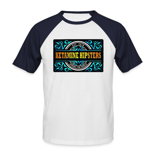 Black Vintage - KETAMINE HIPSTERS Apparel - Men's Baseball T-Shirt
