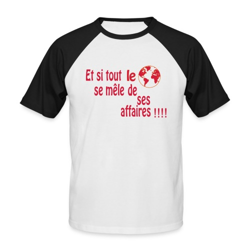 BNT création - T-shirt baseball manches courtes Homme