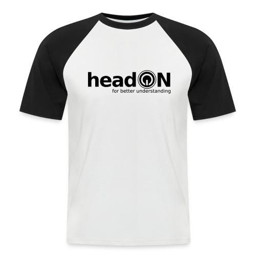headon Logo SW - Männer Baseball-T-Shirt