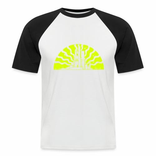 Fairytale Castle Sunrise - Männer Baseball-T-Shirt