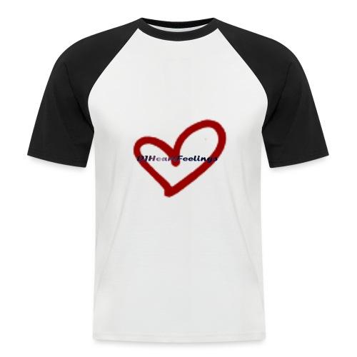 logo djheartfeelings tran - Männer Baseball-T-Shirt