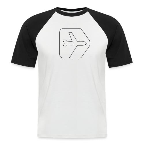 Netzpiloten Logo weiss - Männer Baseball-T-Shirt