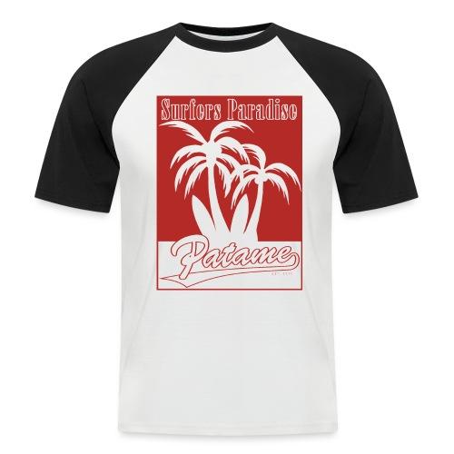 Patame Surfers Paradise Red - Männer Baseball-T-Shirt