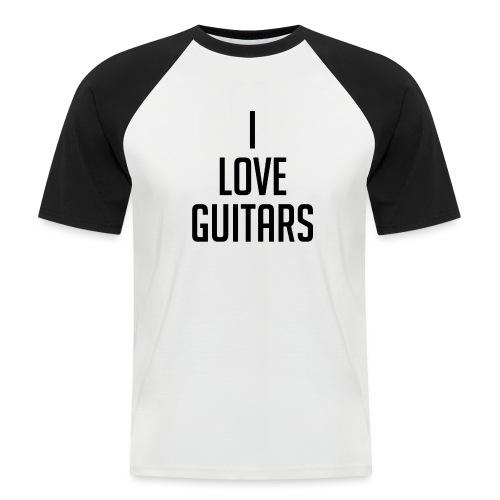 I Love Guitars - Men's Baseball T-Shirt