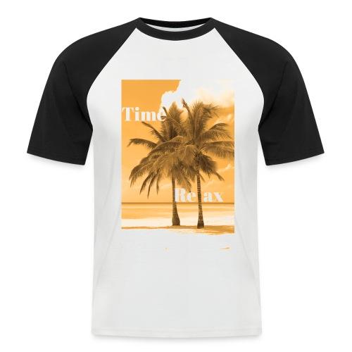 Time to Relax - Männer Baseball-T-Shirt