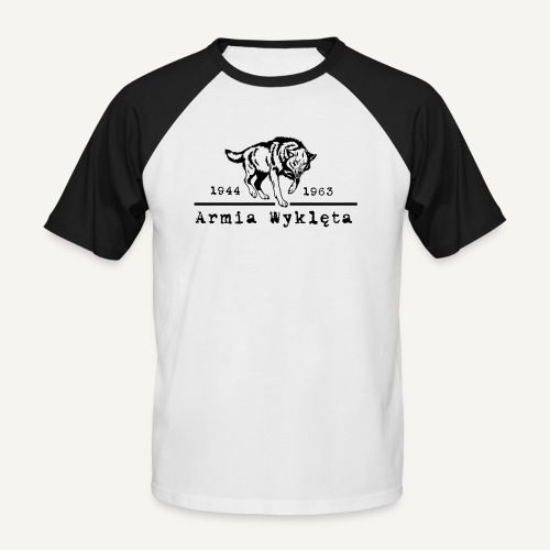 wilk i armia wyklęta1 - Koszulka bejsbolowa męska