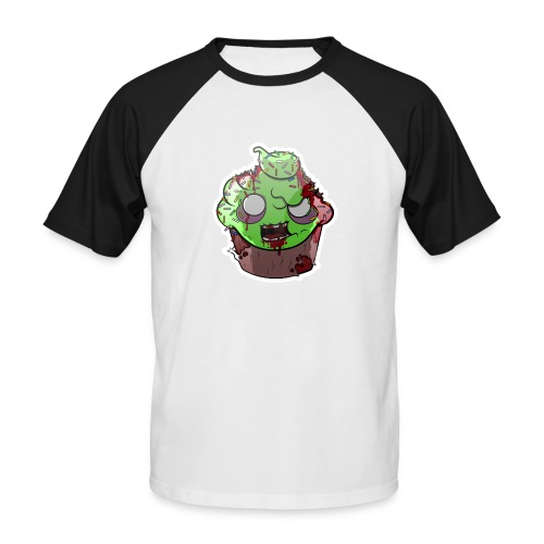 Cupake zombie couleur - T-shirt baseball manches courtes Homme