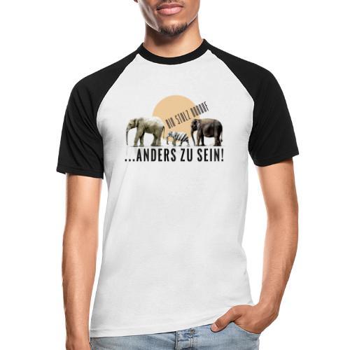 Stolz anders zu sein - Männer Baseball-T-Shirt