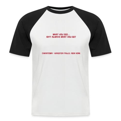 Gremlins White - Maglia da baseball a manica corta da uomo
