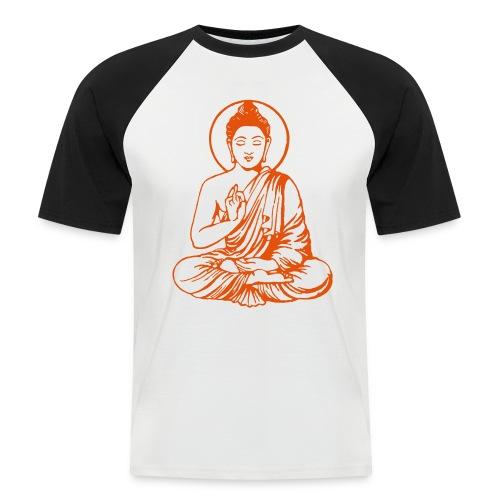 Buddha-Vektor-Outline - Männer Baseball-T-Shirt