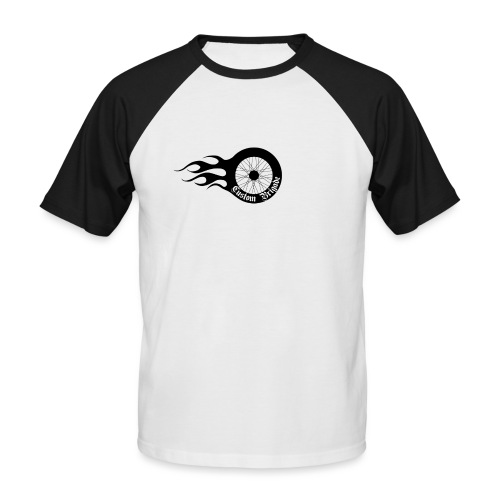 roue flame - T-shirt baseball manches courtes Homme